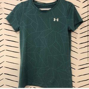 EUC Under Armour Dark Green T-Shirt Size XS